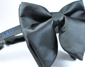 Mens Bowties, Personalized BowTie, Wedding Bow Tie, Wedding BowTie, Monogrammed Bow tie, Personalised Bow tie, Black bow tie, Unique BowTie