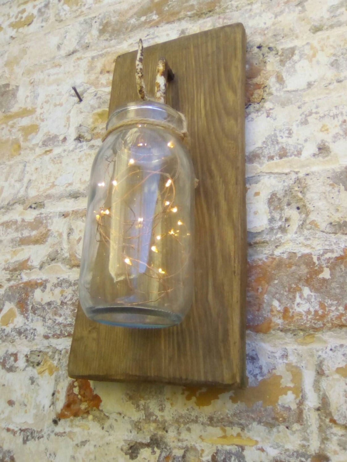 Glass Jar Wall Lights : Glass jar wall light