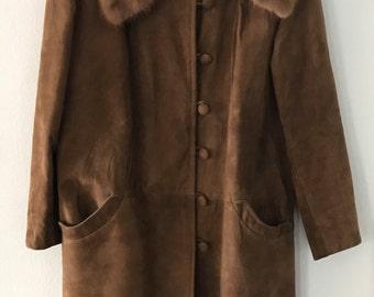 Vintage mod 60's highlander suede coat