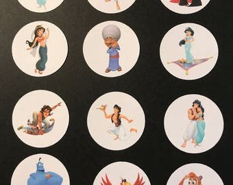 Precut Aladdin Character images to decorate your cupcakes, cookies or cake with.
