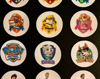 Precut Edible Paw Patrol Characters to decorate your cupcakes, cookies or cake with.