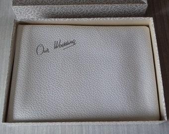 Vintage Wedding Photo Album in Original Box