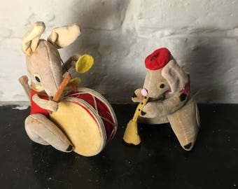 Pair of Aster Stuffed Animal Toys Made in Japan