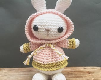 Bunny with hooded sweater, crochet