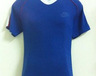 Vintage T Shirt, V Neck, Nike, Sportware, USA.