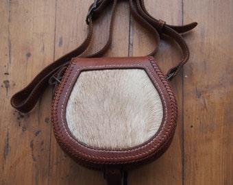 Cloaks bag with Damhirshaar1.  100% handmade, genuine leather