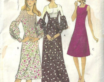 "1971 Vintage VOGUE Sewing Pattern B36"" DRESS (1715) By Jo mattli"