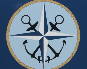 Mariners Compass Barn Quilt 4ftX4ft