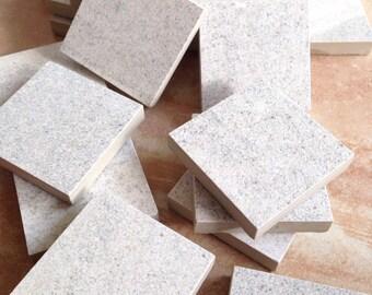 Mosaic tile supplies, set of (30) large square grayish pieces, mosaic tiles, art supplies, mosaic craft project supplies, large mosaic tile