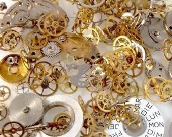 10g Assorted Watch Parts For Steampunk Jewellery Making