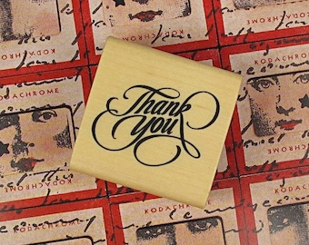 """Wooden stamp """"thank you"""""""