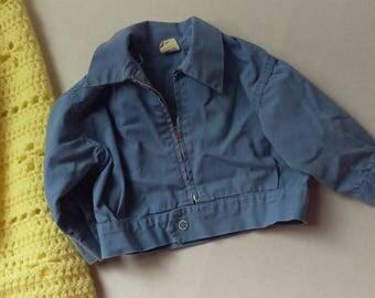 Vintage Light Blue Danny Dare Baby Jacket Size M