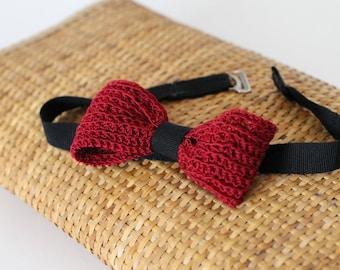 Crochet bow tie for men. Crochet bow tie for man.