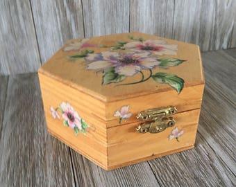 Floral Octagon Box