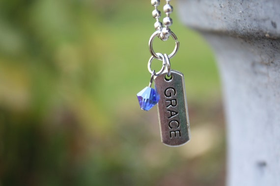 Give Grace - silver charm necklace