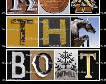 Western Michigan University Framed Alphabet Art Print