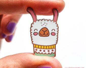 Alpaca Love enamel pin // Alpaca hard enamel pin, Lama, brooch, lapel pin, hard enamel, pin badge.