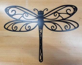 Dragonfly metal wall art plasma cut decor