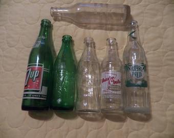 Vintage Soda Bottles lot of 6