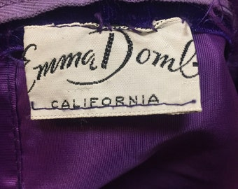 Exceptional royal purple Emma Domb Full length dress of the 1960s