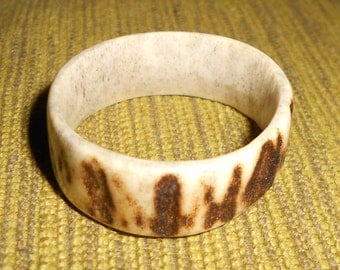 Naturally shed hand-made Antler Ring number 21, UK size Z+4