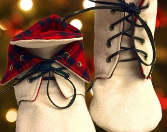 Fold-Over Booties [baby, babies, kid, child, boot, shoes, holiday, winter]