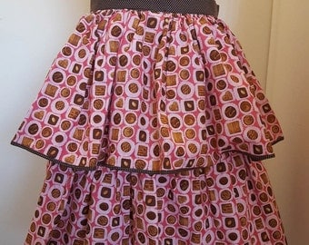 Bon Bon 2 Tiered Gathered Skirt Apron