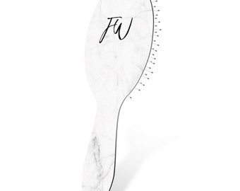 Personalised Hair Brush   Custom Hair Brush   Marble Print   Gifts for Girls