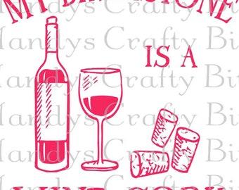 SVG Birthstone is a Wine Cork