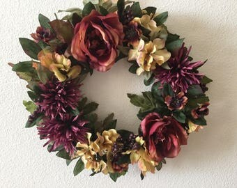Handmade Indoor or Outdoor Wreath - FREE Shipping