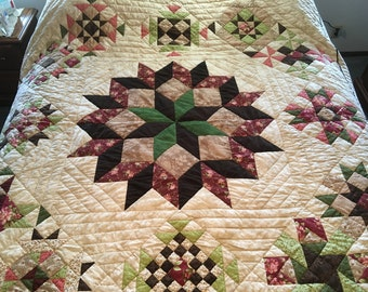 Handquilted Patchwork Party Star Quilt