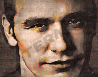 James Franco Art Print - Oil Painting Poster  LFF0070