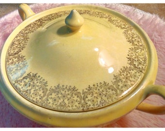 Vintage Yellow Serving Dish 22kt