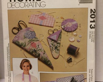Sewing  pattern McCalls Home Decorating sewing accessories pattern 2013