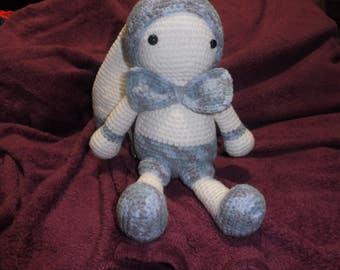 The toy blue jacquard crochet
