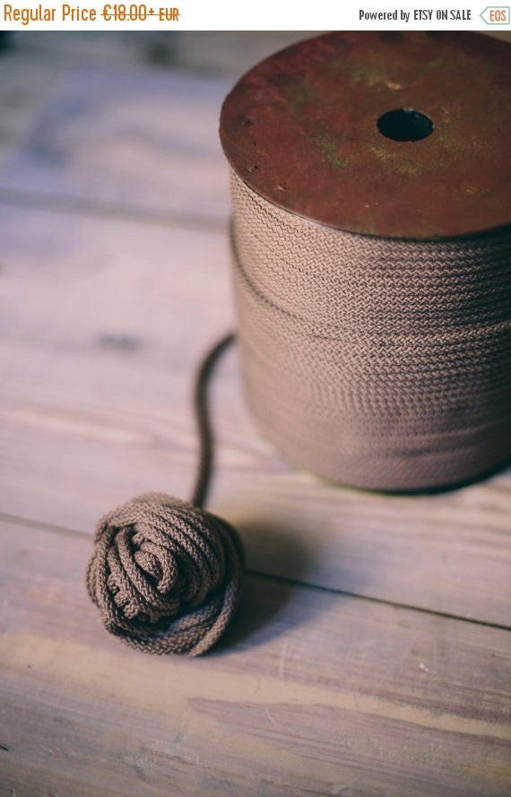 Coconut polyester rope- craft projects- knitting supplies- knitting yarn- crochet rope- DIY projects- DIY supplies- rope cord 009