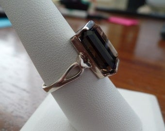 Unusual Smoky Quartz Ring 1067