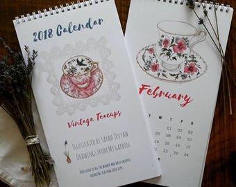 Vintage Teacup Calendar