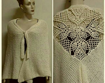 OOAK Crochet Shawl handmade shawl .Crochet shawl Crochet wrap Granny square  cowl Knit neck warmer Womens knit scarves