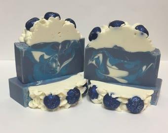Blueberry Cream | Soap | Artisan Soap | Blue Violet Soaps