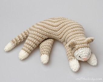 Crochet Sleepy Cat