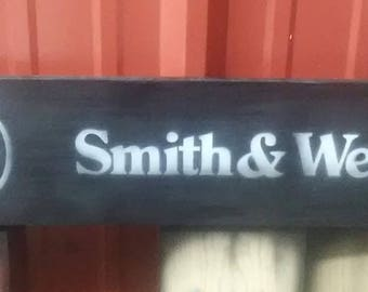 Smith & Wesson sign.