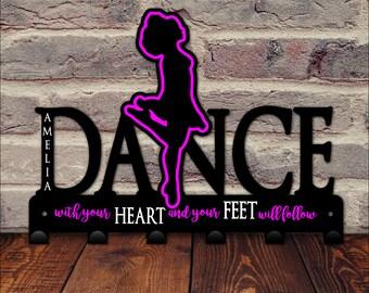 Irish Dance Medal Holder / Dance Medal Display / Irish Dancer Wall Hooks / Gift for Dancer