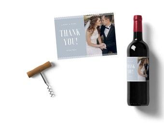 Custom wine label - marriage - thanks - my wine personalized
