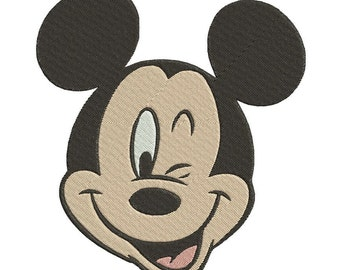 Mickey Mouse Machine Embroidery Design 3 sizes instant download