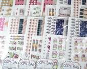 JANUARY HORIZONTAL Oops Bag - Super Fab Oops Bag - Sticker random sheets with Calendar kit - Horizontal bag - fits EC
