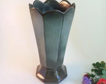 Vintage Frankoma Vase #64 Collectible Woodland Moss Glaze 1960s