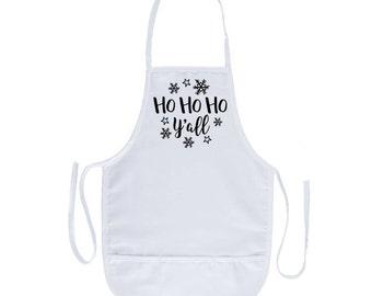 Ho Ho Ho Y'all Apron
