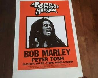 Reggae Sunsplash Bob Marley Peter Tosh Burning Spear Third World Band 1979 Original Australian Rare Vintage Music Movie Poster