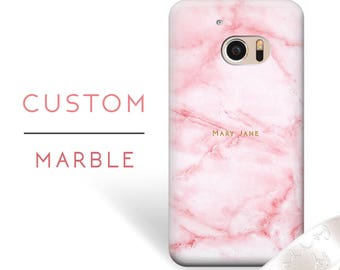 Pink HTC Marble Case Custom Name HTC Case Htc One M9 Case Htc One M8 Htc One M8s Htc One M8 mini Htc One mini 2 Htc M8 Htc One X9 One M7 31